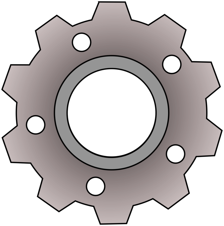 Gear mechanical engineering computer. Sprocket drawing clipart