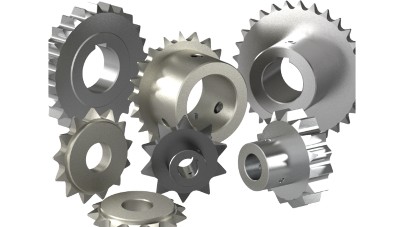 Sprocket drawing broken gear. D cad models drawings