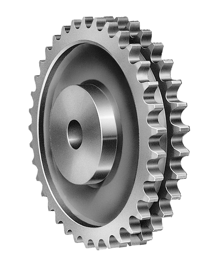 Sprocket drawing duplex. Double strand sprockets parts