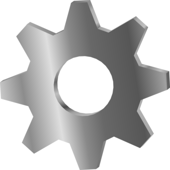 Sprocket drawing flower. Bicycle gearing computer icons