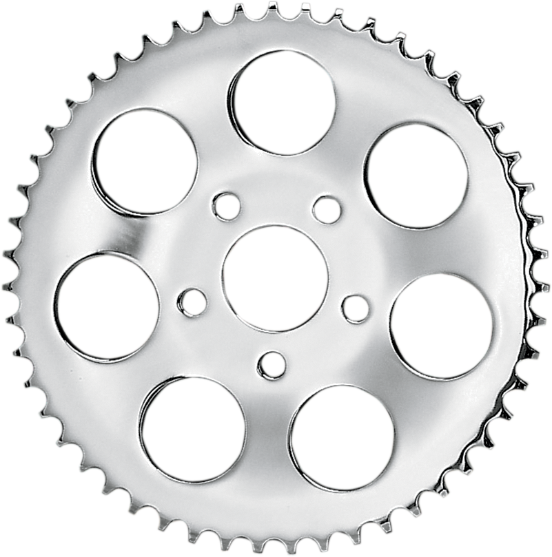 Sprocket drawing motorcycle. Drag specialties chrome tooth