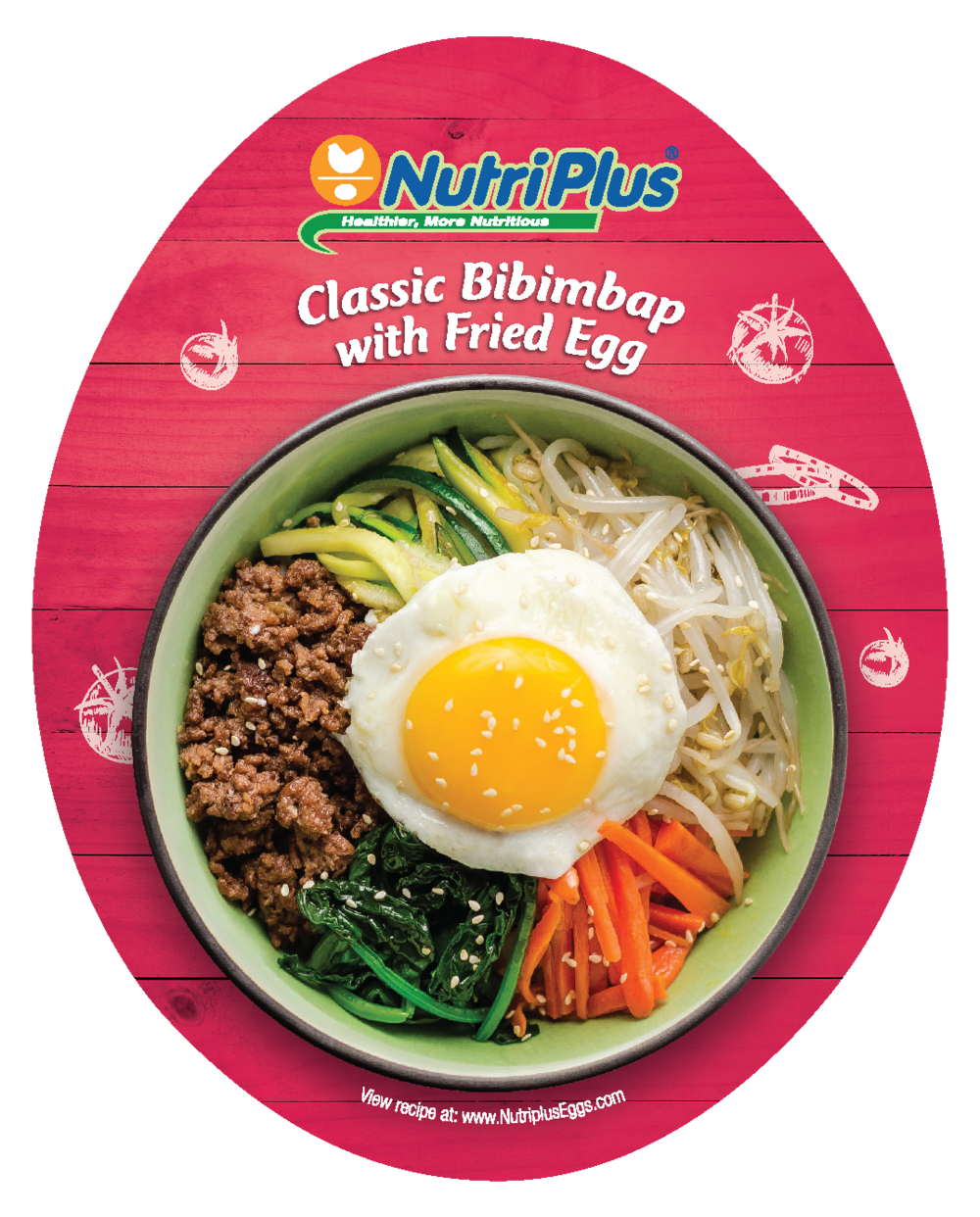 Sprout clip fried egg. Classic bibimbap with