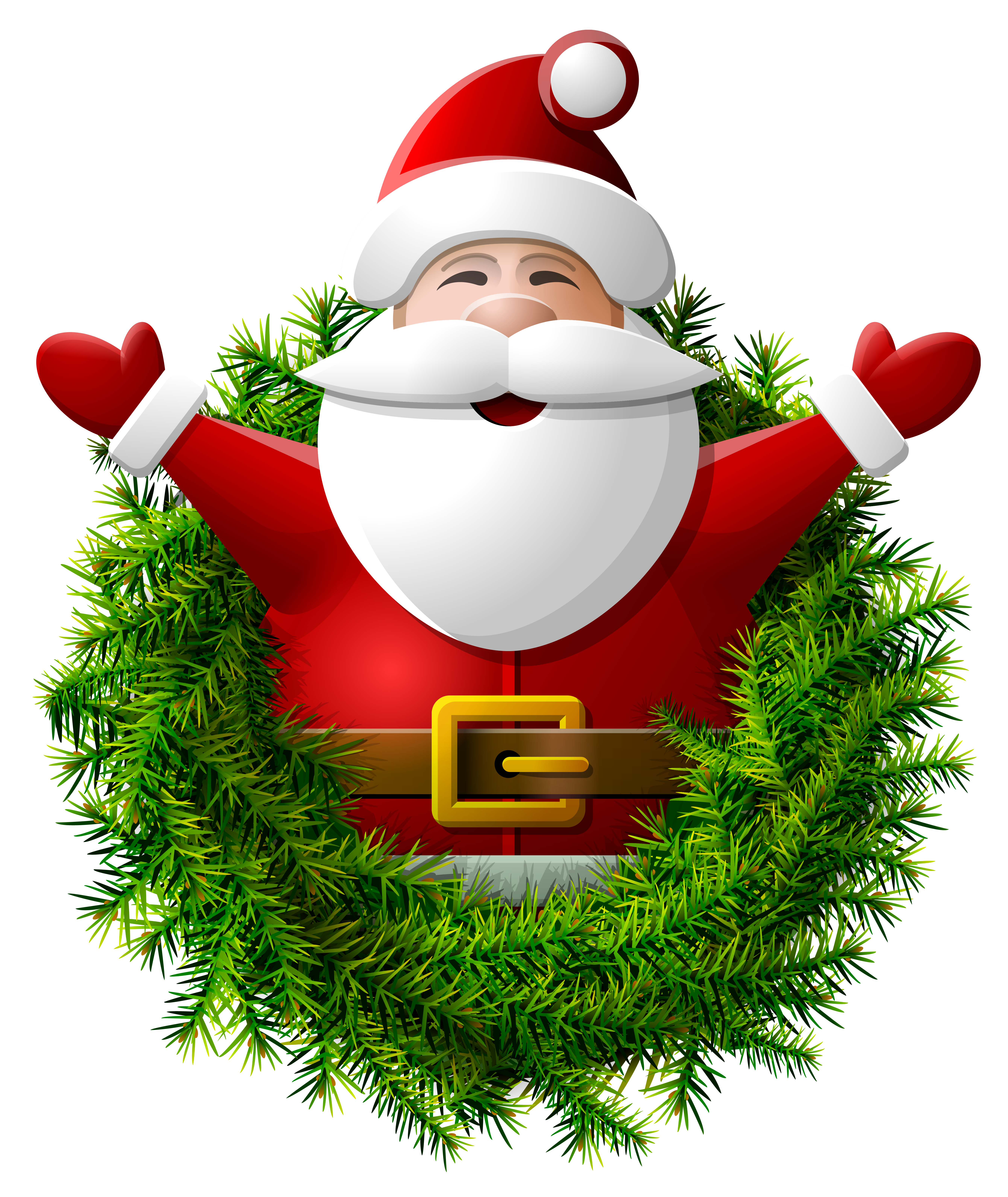 Sprout clipart christmas cartoon. Santa claus wreath png