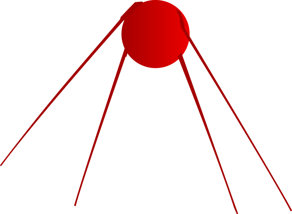 Sputnik drawing. The first satellite computer