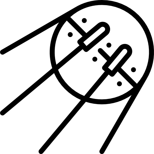 Sputnik drawing comet. Free technology icons icon