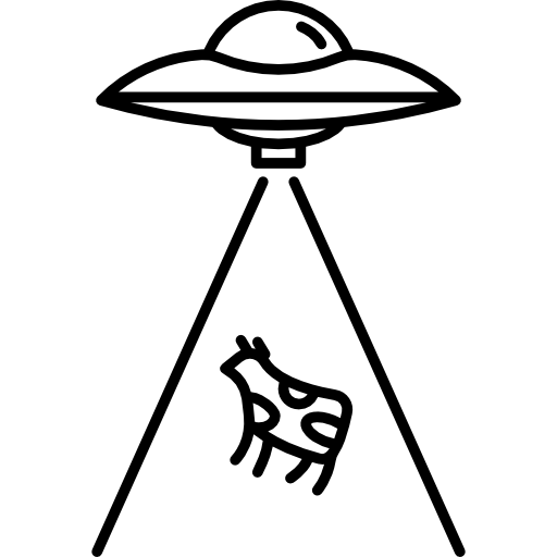 Sputnik drawing ufo. And cow free transport