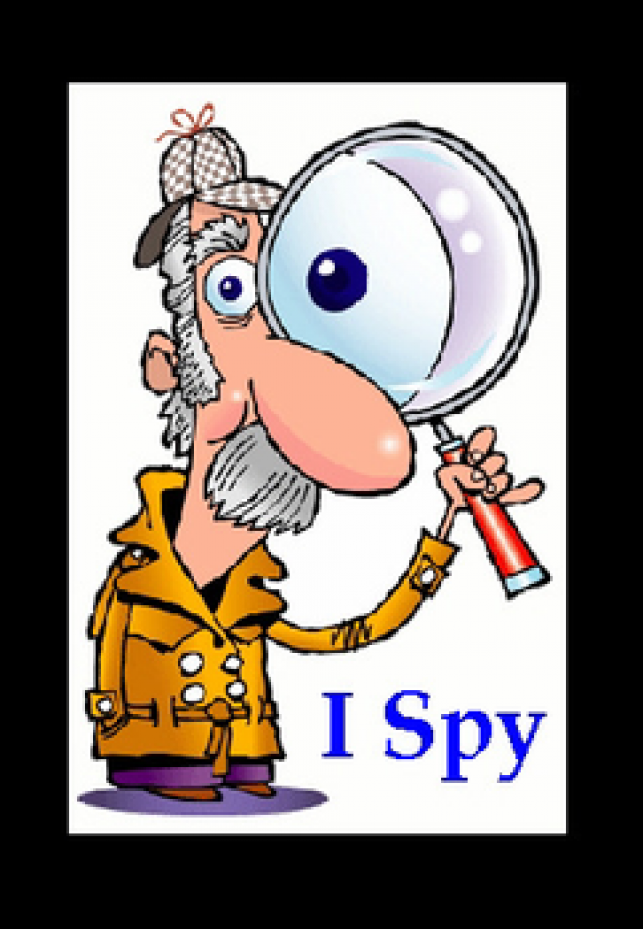 Spy clipart ispy. I with my little