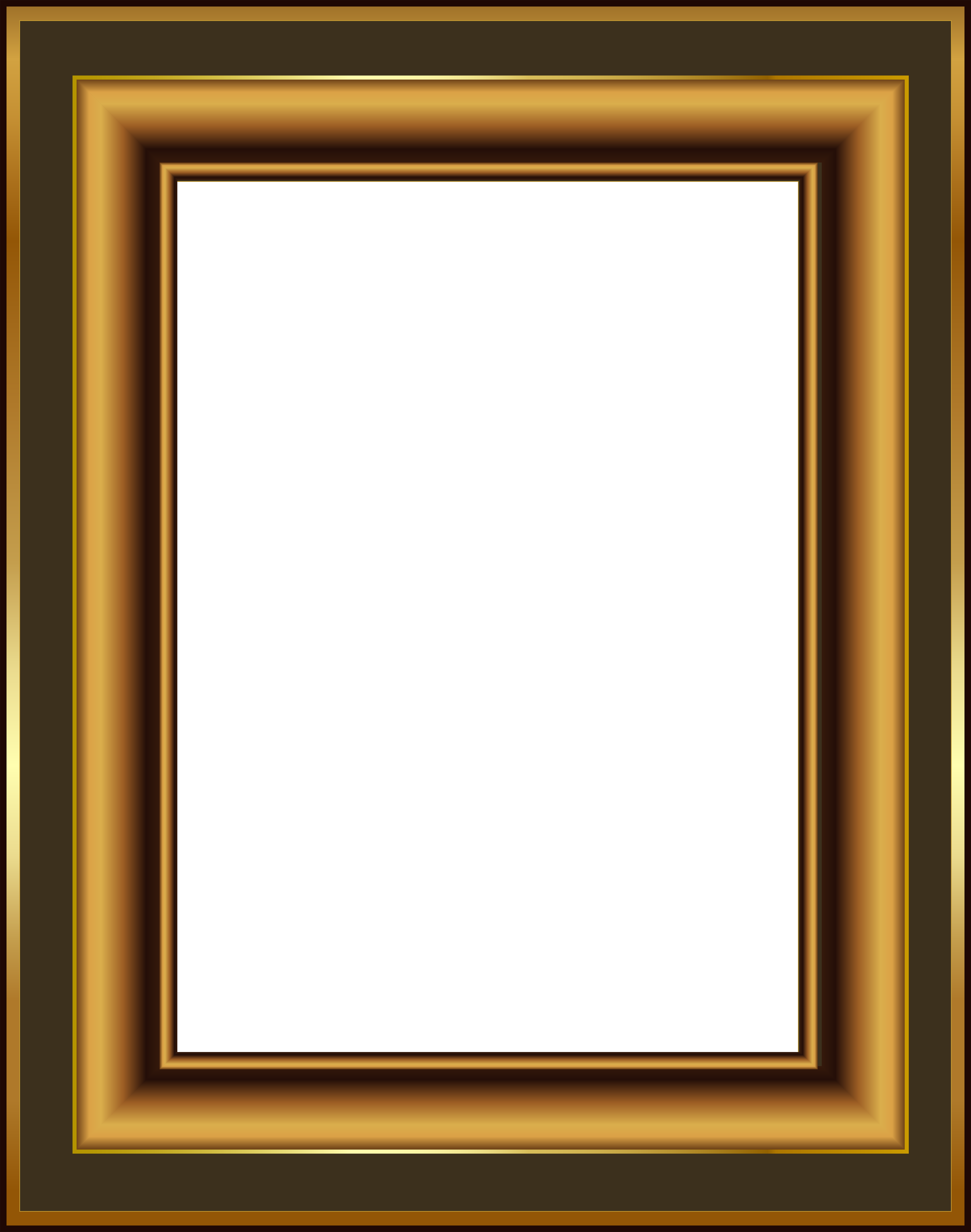 Png frame photo. Brown and gold classis