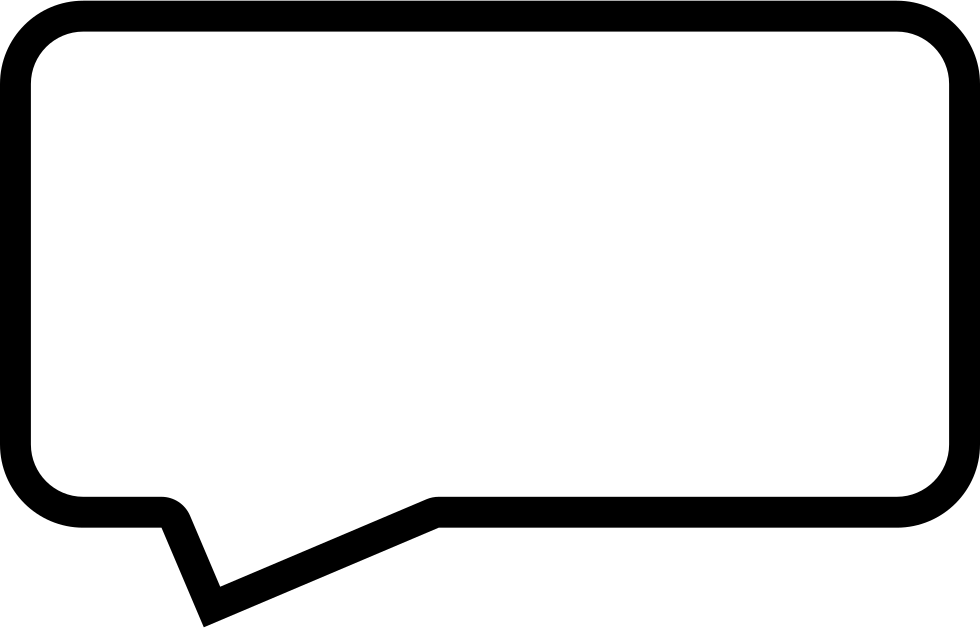 Square speech bubble png. Message outline of rectangular