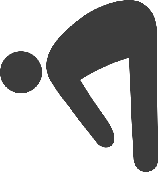 Squat vector static. Free online exercise warm