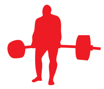 Squat vector power lifter. Free deadlift icon download