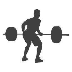 Squat vector girl workout. Fitness woman silhouette lifting