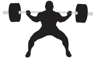 Squat vector weightlifting. Weightlifter png hd transparent