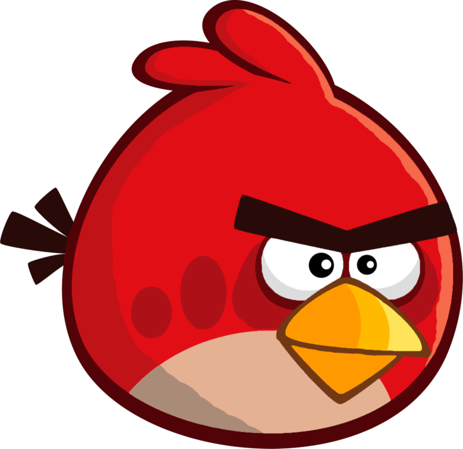 Squid clipart cartoon angry. Birds remastered red by