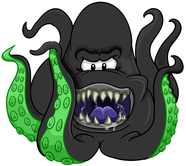 Squid monster png. Space costume club penguin
