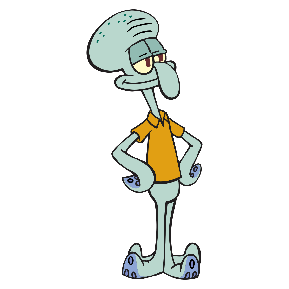Tentacles holding png. Squidward wikipedia