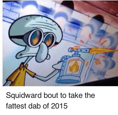 Squidward dabbing png. About to take the