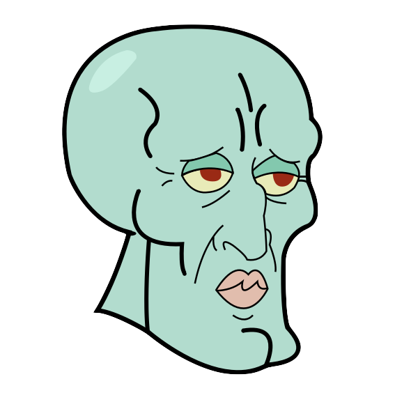 Squidward face png. Handsome by miniman on