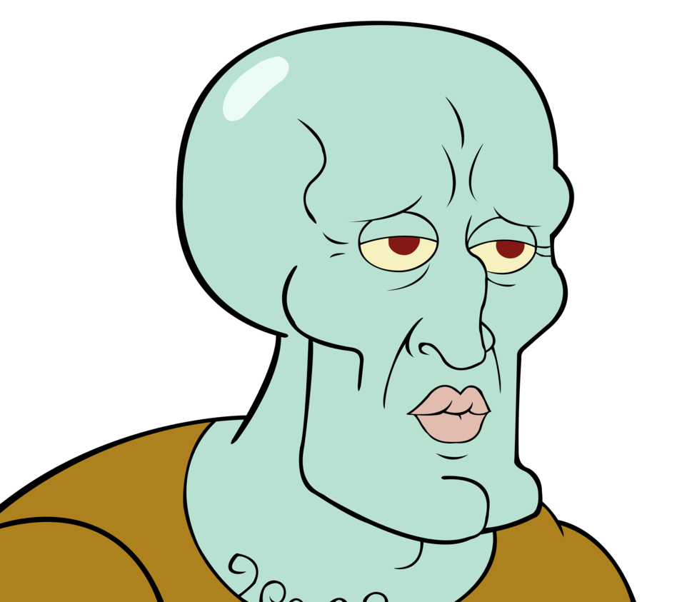 Squidward face png. Image handsome the mysterious