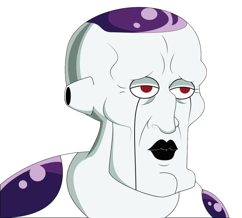 Squidward meme png. Handsome frieza world database