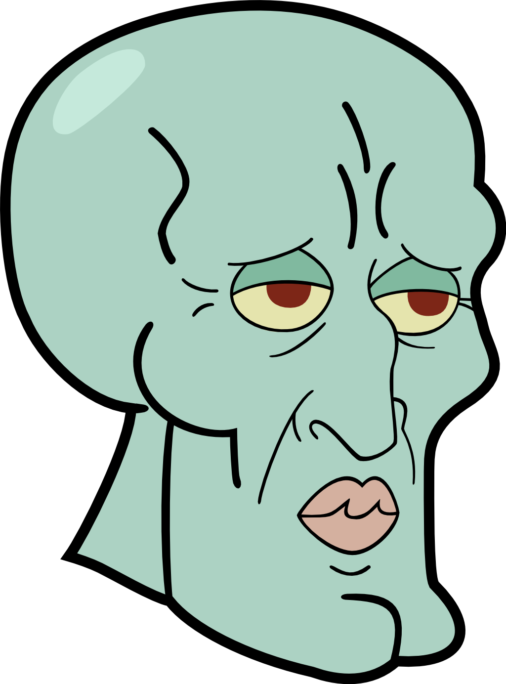Squidward meme png. Spongebob by bitchpleasedog center