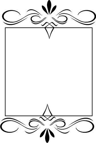 Squiggly clipart boarder. Fancy borders ornate squiggles