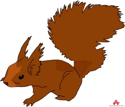 Squirrel clipart september. Clipartaz free collection brown