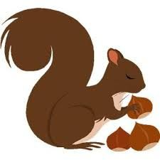 Squirrel clipart september. Image result for free