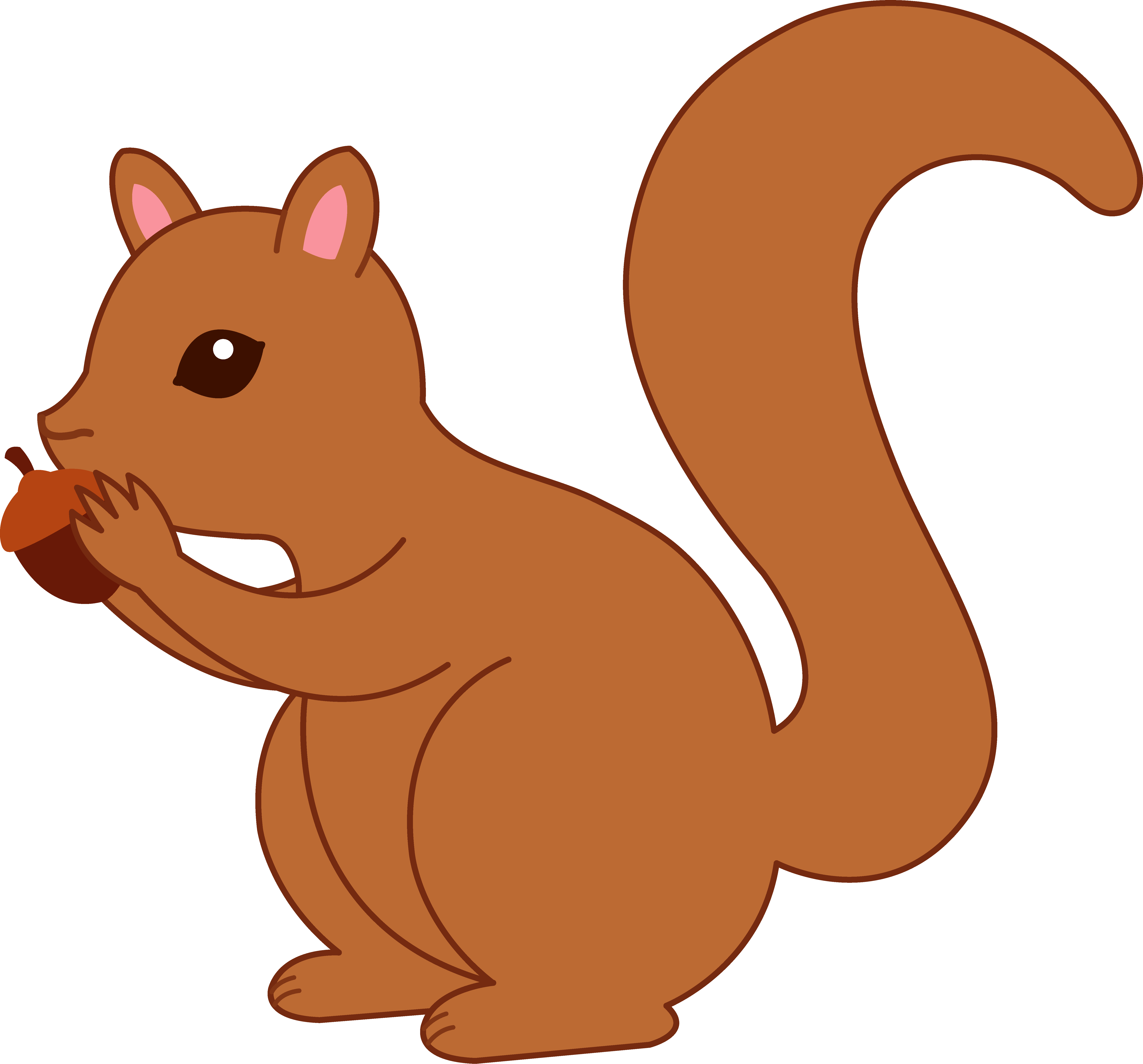 Squirrel clipart squirrel drawing. Cartoon best panda free