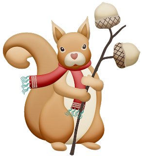 Squirrel clipart winter. Nice clip art oh