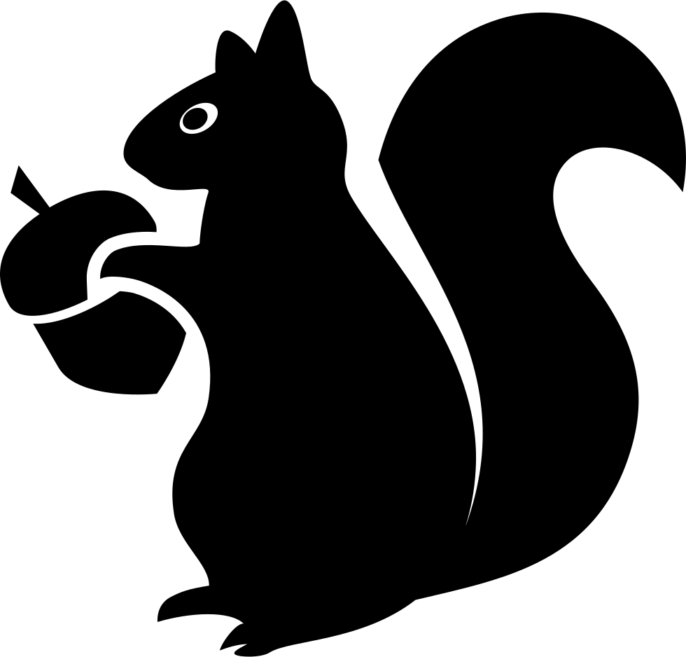 Squirrel logo png. With acorn svg icon