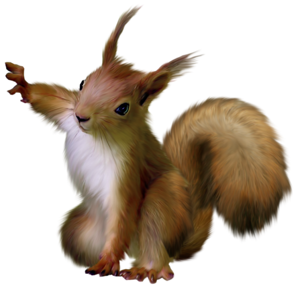 Squirrel standing png. Painted by lovemayu on