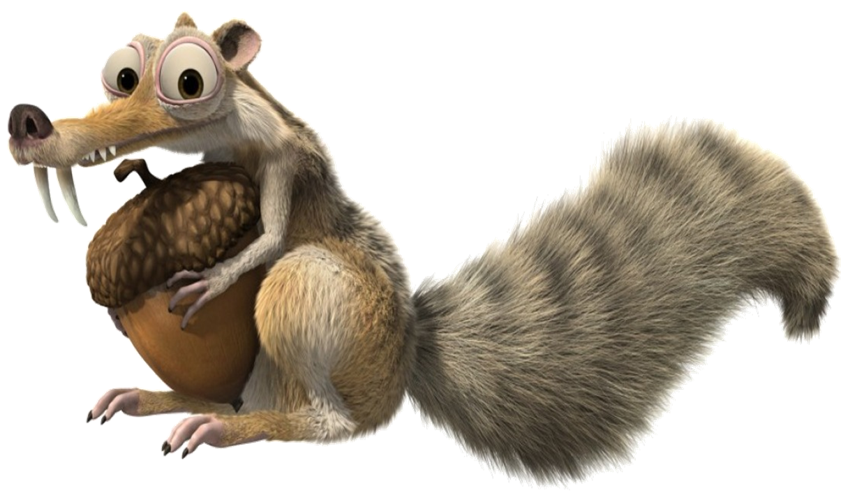 Squirrel with arms out png. Ice age