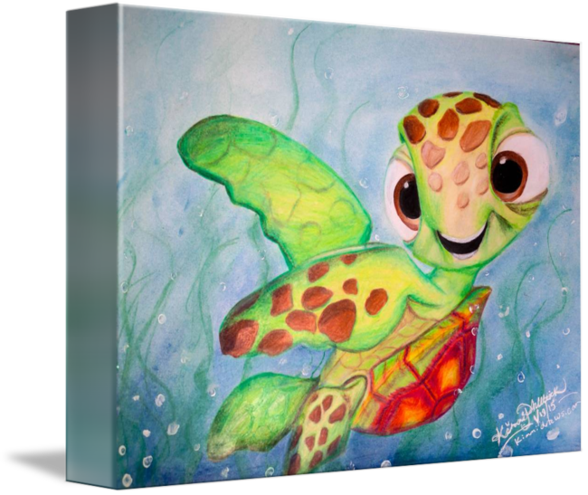 Squirt drawing. Disney s finding nemo