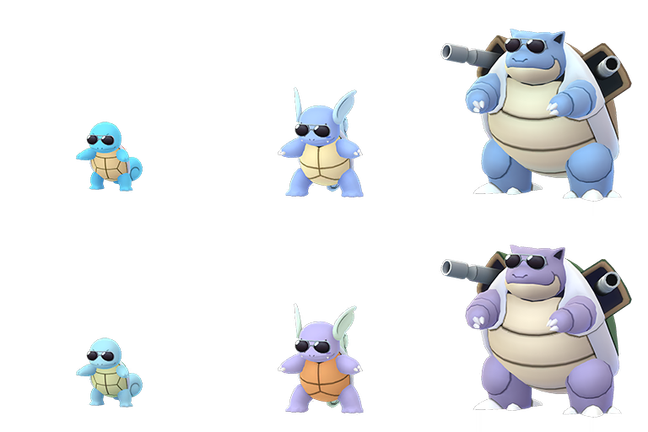 Squirtle glasses png. Sunglasses wearing shiny wartortle