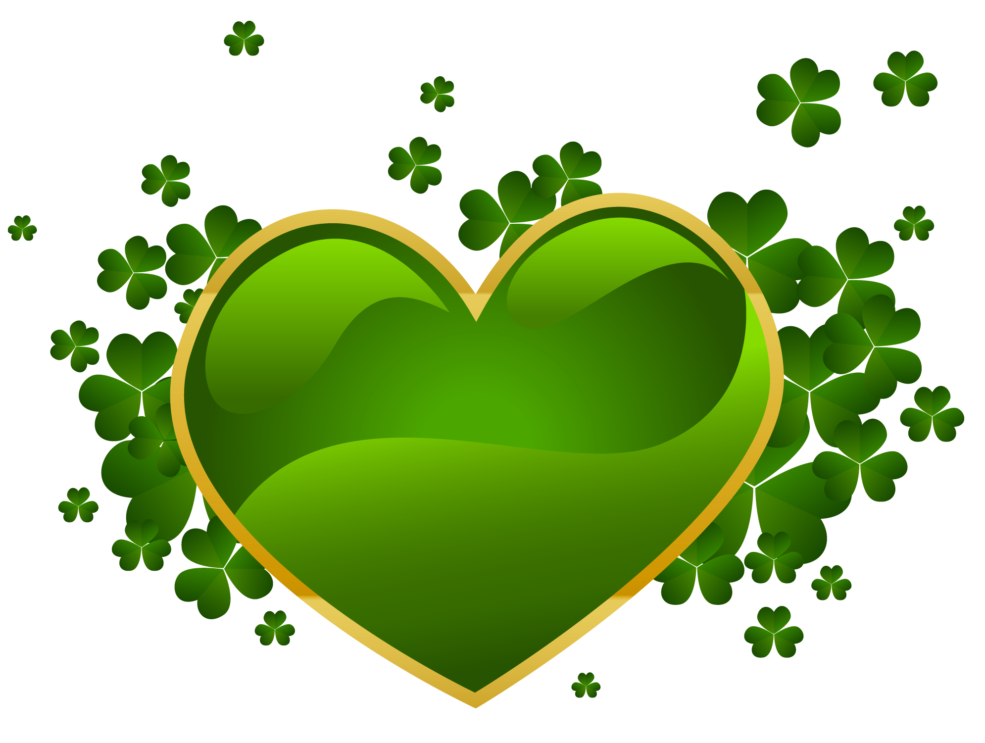 St patricks clipart heart. Day with shamrock png
