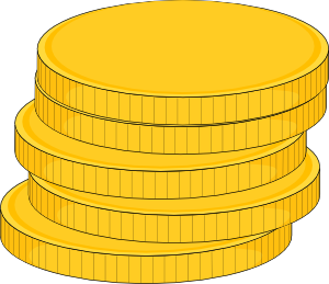 Stack clipart. Money of coins clip