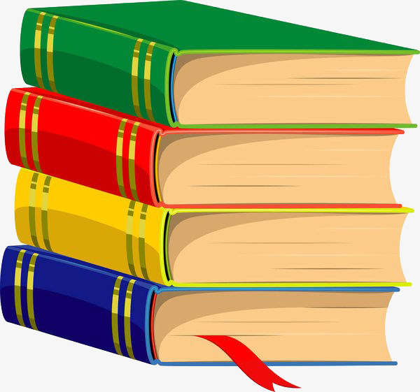 Stack clipart hardcover book. A pile of colored