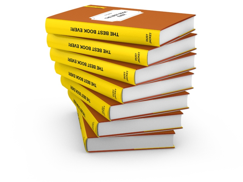 Stack clipart hardcover book. D covers rendered
