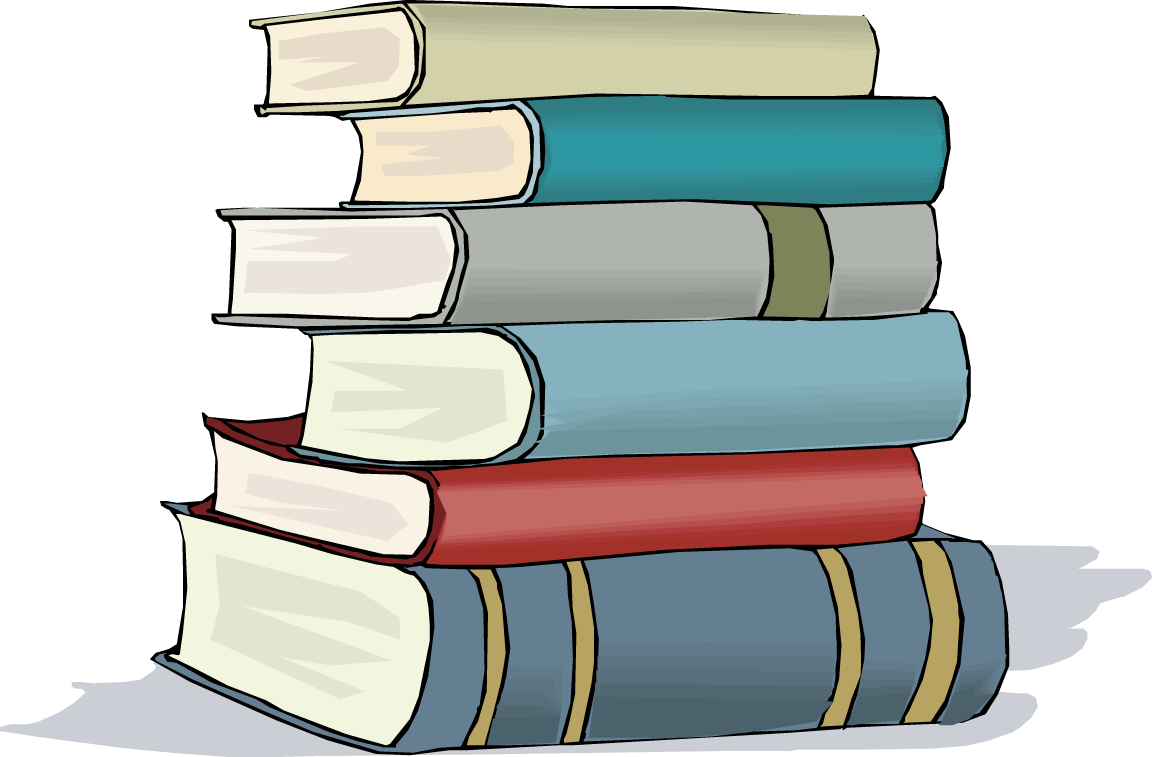 Stack clipart library book. Of books in a