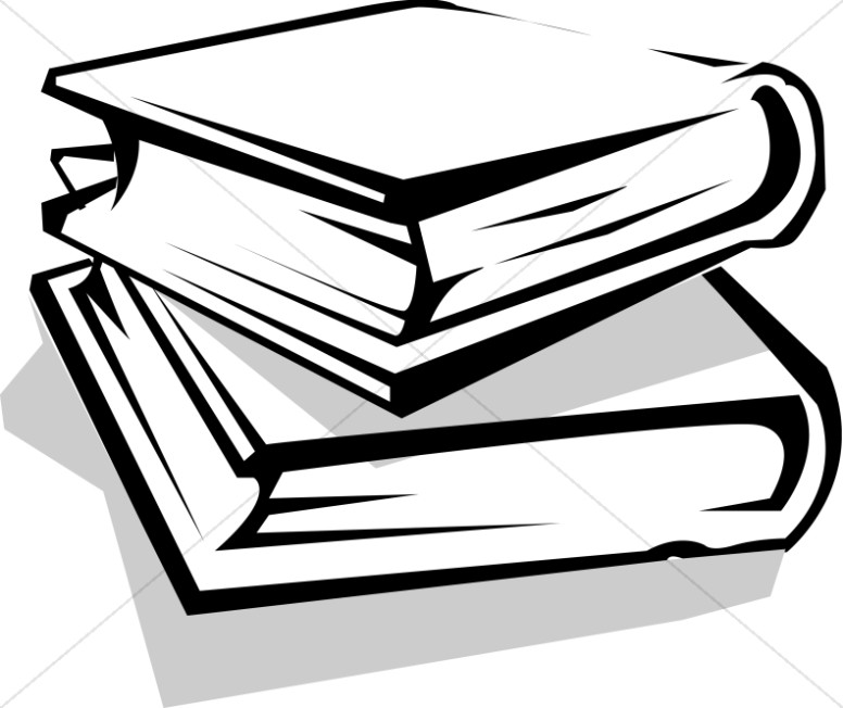 Stack clipart library book. School books christian classroom