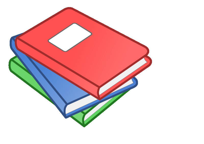 Stack clipart library book. Of three books fair