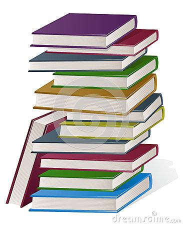 Stack clipart pile book. Stacked of books panda