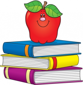 Stack clipart school project. Of books item panda