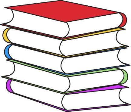 Stack clipart school project. Of books craft projects