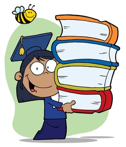 Stack clipart school project. Free schoolgirl image a