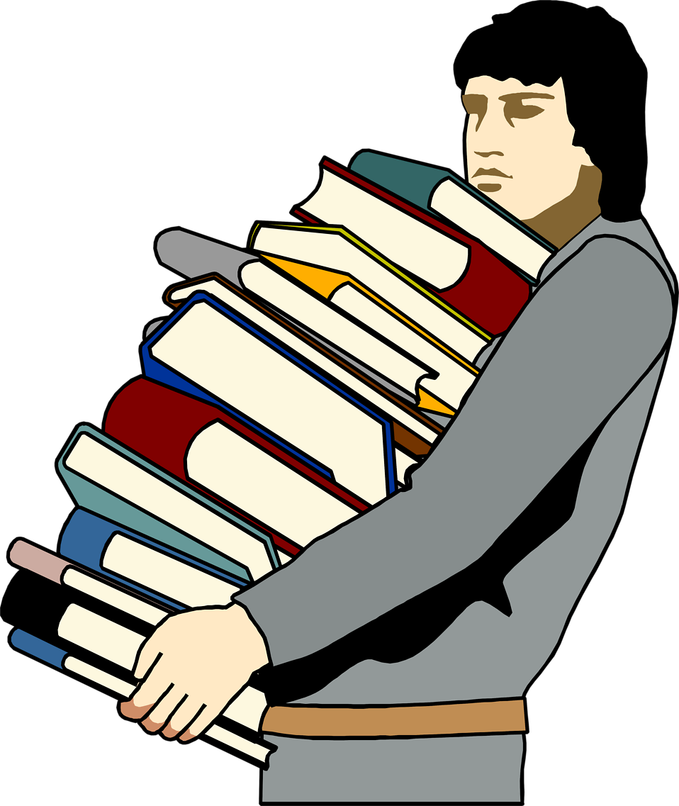 Stack of books clipart png. Man free stock photo