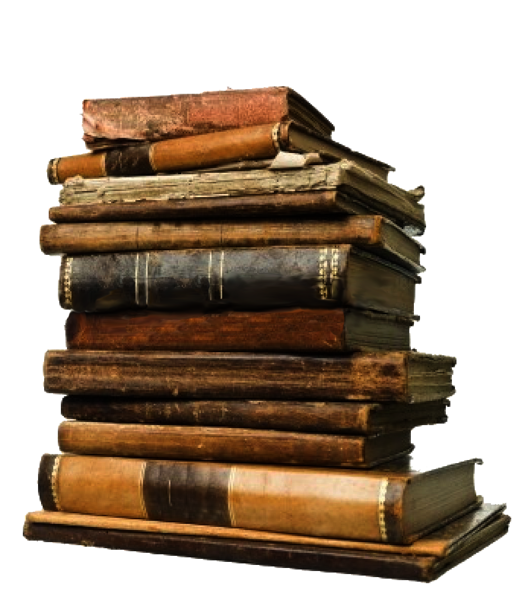 Stack of books png. Old image