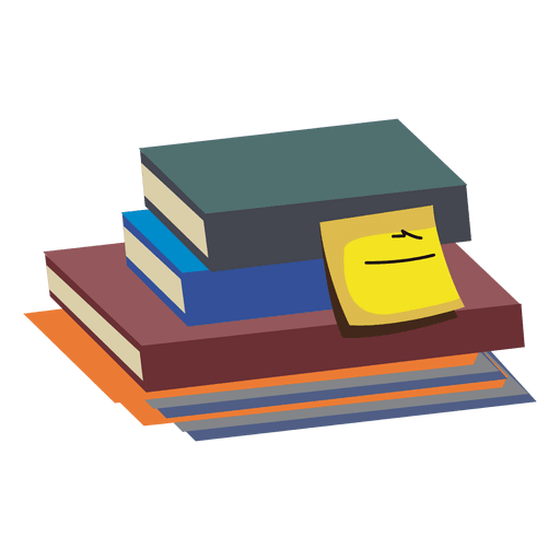 Stack of books png. Transparent svg vector