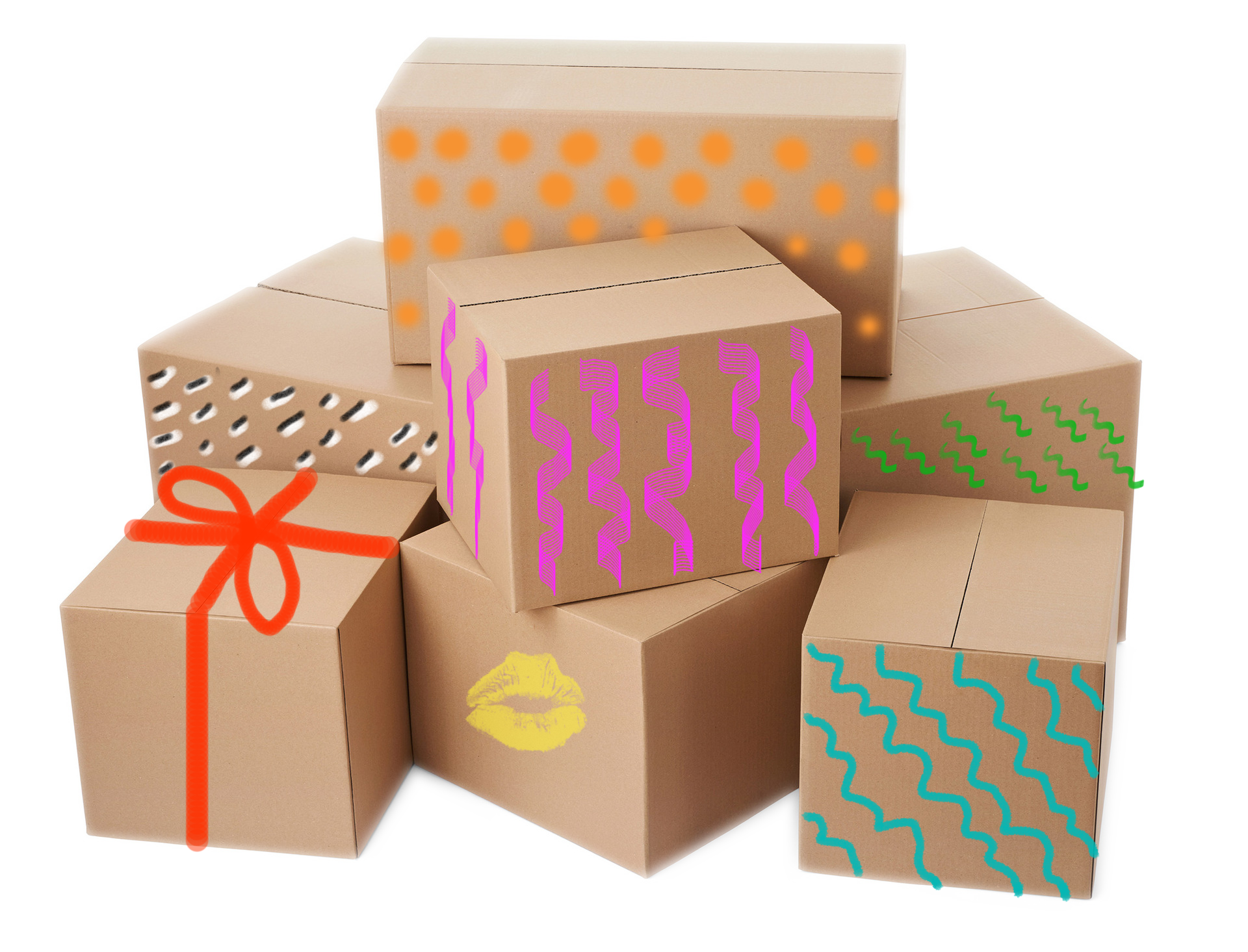 Stack of boxes png. Painted pop box